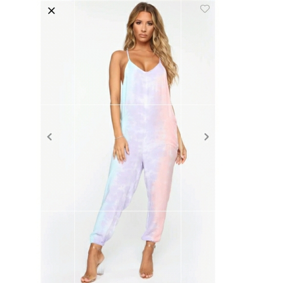 Fashion Nova Janika Tie Dye Jumpsuit